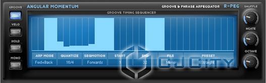 Рисунок 6. Groove & Phrase Arpeggiator R-Peg.