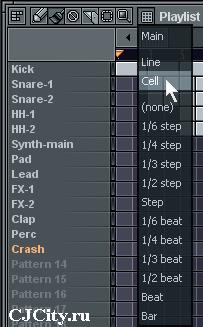 Привязка к сетке в FL Studio 7