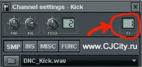 Channel settings во FL Studio