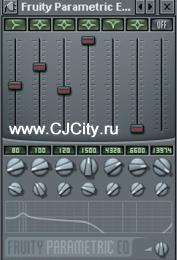 Настройки параметрического эквалайзера в FL Studio