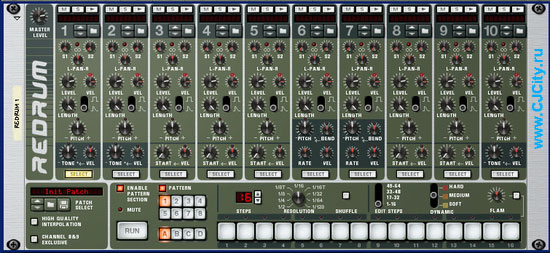 Reddrum в Propellerhead Reason 3.0