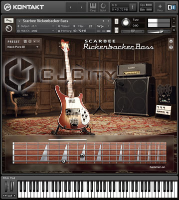 Виртуальный бас Scarbee Rickenbacker Bass