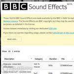 бесплатные сэмплы от BBC