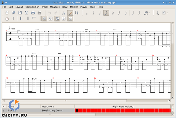 Ещё одна программа-редактор для нот, табулатур