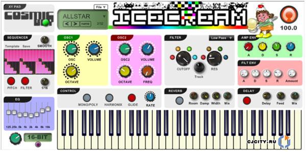 Soulsby miniatmegatron 8-bit synth kit - angled